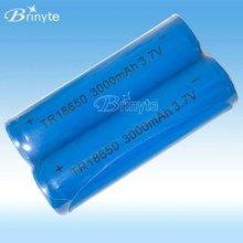 Rechargeable 18650 li-ion battery 3.7v 3000mah