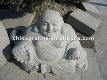 stone carved laugh buddha
