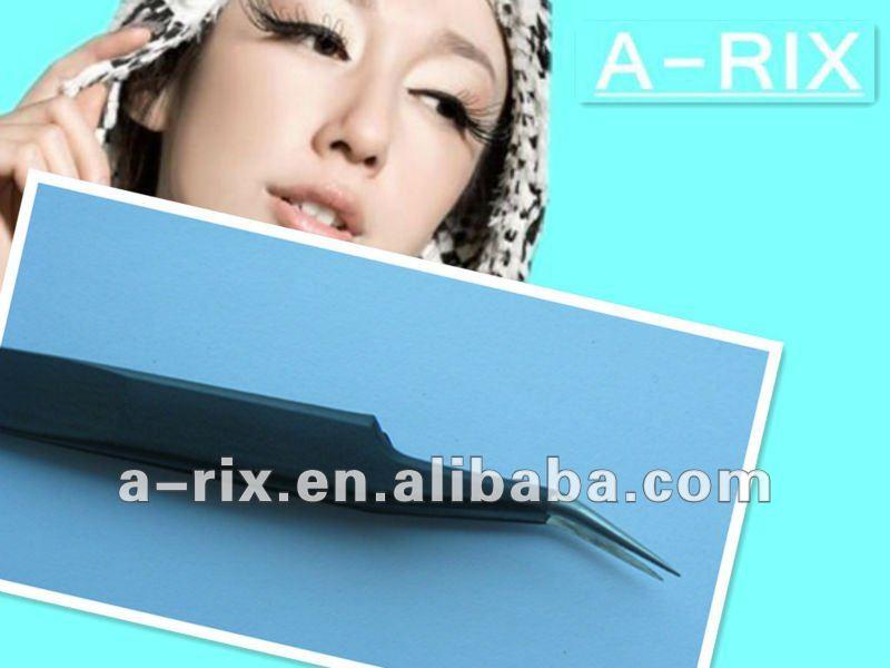 fashional curved anti-static stainless tweezer for eyelashes