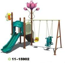 outdoor plastic children slide and swing sets
