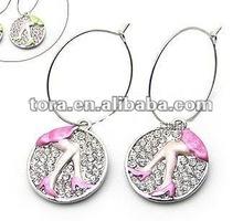 Fashion Silver Plated Enamel with Crystal Hoop Drop earring ladies earrings designs pictures earrings 2012