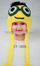 Lovely winter earflap crochet hat for baby