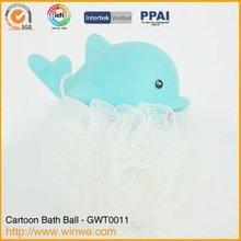 PVC Dolphin Body Clean Flower Sponge
