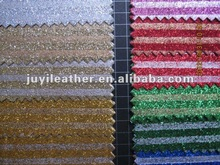 Glitter PU Synthetic leather for lady shoes