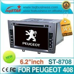 "LSQ STAR AUTORADIO PEUGEOT 408 GPS MONITOR 6.2"" TOUCHSCREEN DVD DIVX MP3 BLUETOOTH"