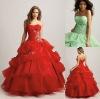 QU-141 Elegent red western fashion 2012 new design ladies dress