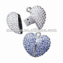 heart jewelry usb memory for woman 100% Full Capacity -Free Sample