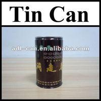 Tea Empty Tin Cans Pass SGS FDA unique shape tins