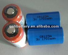 CR123A High power Cylindrical Lithium battery 1700mAh