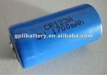 Lithium battery 1700mAh Size 2/3A CR123A
