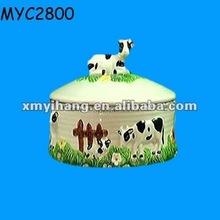 Farm themed handmade ceramic food warmer