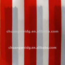 high quality polyester spandex red white striped fabric