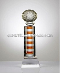 Coloured Ball Crystal Trophy