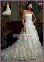 AWB1223 Designer Handmade Layered Organza Petals 2012 Latest Bridal Wedding Gowns