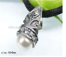 2012 Fashion Charming Pearl Pendant Stainless Steel Freshwater Pearl