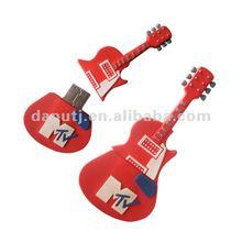 guitar shape usb drive pvc material 1gb,2gb,4gb,8gb,16gb