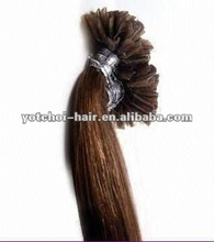 "NEW ARRIVAL!!2012 Wholesale good quality 18"" silky straight u tip kbl peruvian hair"