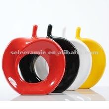 colorful Apple shape porcelain decoration