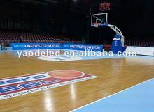CE and RoHs soft mask super brightness perimeter basketball stadium led display screen
