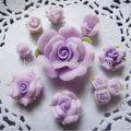 japonés hecho de arcilla flores