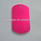 aluminum oxidise pink dog tags
