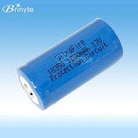 Rechargeable 18350 li ion battery 3.7v 1200mah