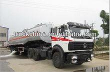 42000L oil tank semi trailer and truck beiben tractor truck