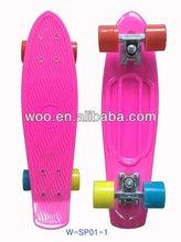 2012 new plastic long boards,mini penny skateboard,Mini Curiser Transparent Penny Skateboard,fish penny skateboard