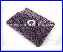 For iPad 3/ iPad 4 Rotation case with fur skin