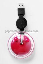 mini round animal shape optical mouse