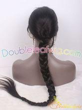 china top quality human hair dreadlock wig braid high ponytail