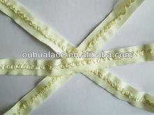 Designed Fold Over Elastic as fabric edge binding