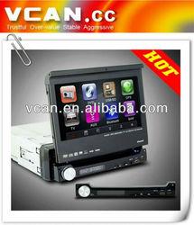 1 din 7 inch digital TFT screen car DVD player touchscreen bluetooth AM/FM RDS