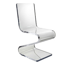 transparent acrylic Z shape elegant chair