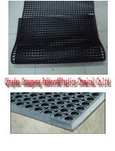Antifatigue red rubber kitchen sink mat