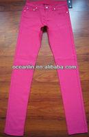 2012 new design skinny jeans for ladies