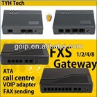 8 port fxs gateway support SIP&H.323 protocal voip phone adapter asterisk server