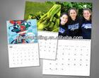 2013 new popular spiral binding wall calendar