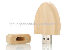 bulk cheap OEM 2gb/4gb oval wood usb flash drive/memory stick OEM for wholesale