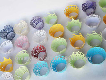 Bulk Birthday Colorful Lace Laser Cut Cupcake Wraps On Promotion