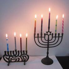 2012 multi-colour braid jewish candle
