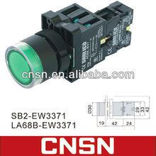 Green Led push button switch XB2-EW3371 LAY5-EW3371