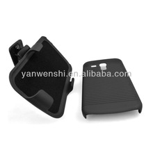 FOR Samsung Galaxy SIII mini I8190 COVER+BELT CLIP+KICKSTAND PHONE HOLSTER 2-PIECE HANDPHONE CASE