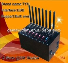 Gsm modem 8 port/ usb gsm modem download with free software SMS caster 850/900/1800/1900