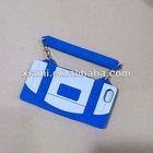 3D logo Rubber Silicone cases holders covers for mobile cell phone with embossed logo handbag hand bag