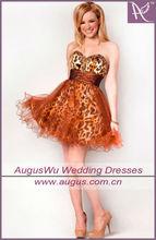 ADS1 2012 Popular Instock Beaded Sweetheart Short Leopard Print Cocktail Dress