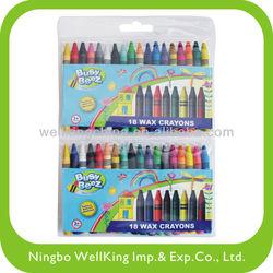 18 pcs wax crayons