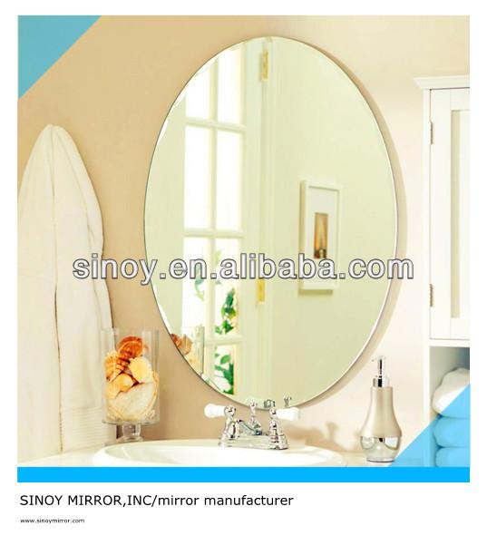 SINOY large round shape copper free & lead free bathroom mirror glass