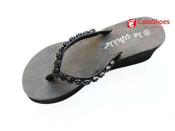 ladies wedges eva high heel slippers
