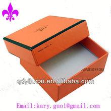 Orange paper watch box customized